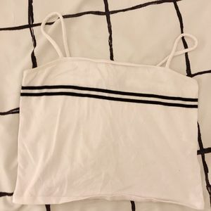 Forever 21 white striped tank top